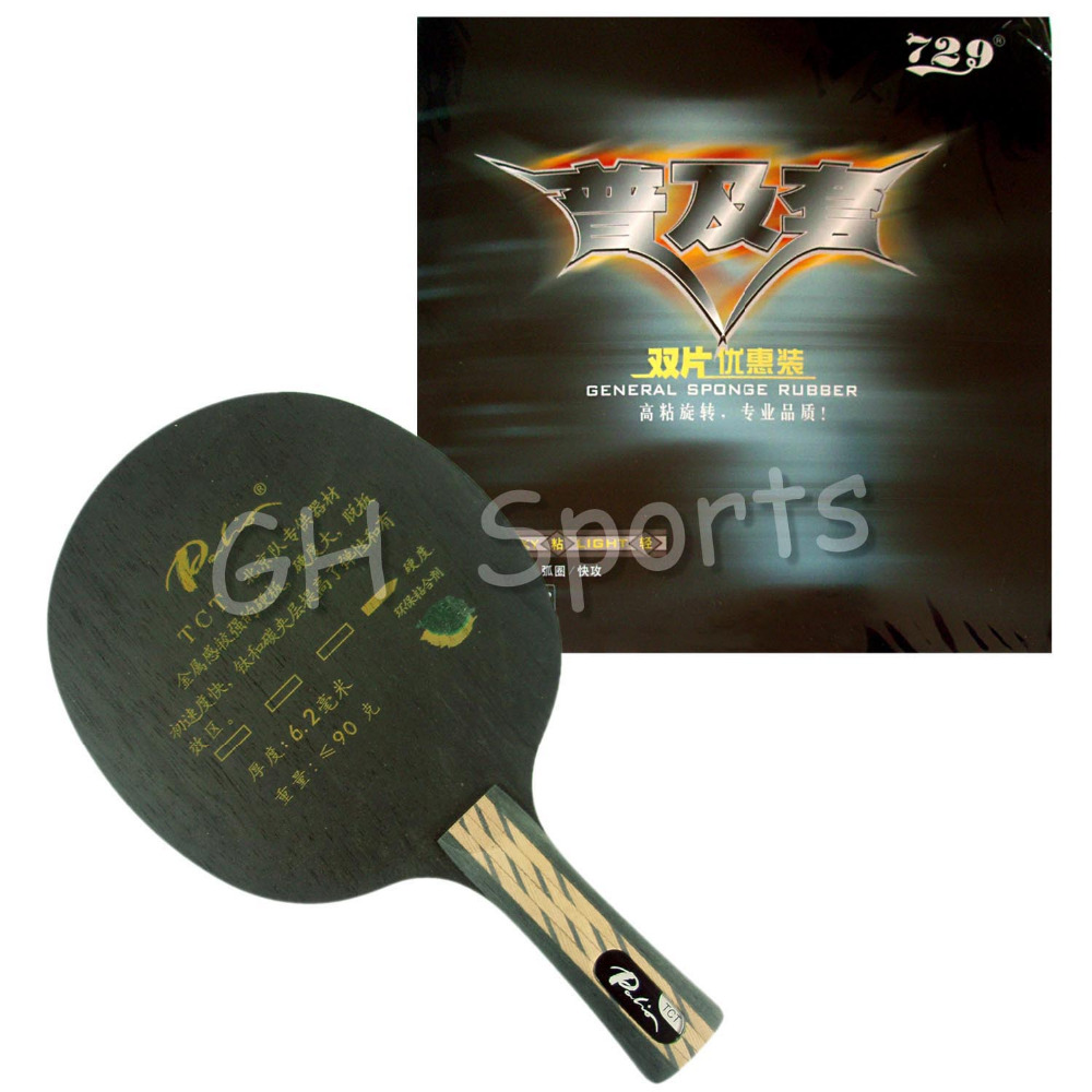 Palio TCT Table Tennis Blade With RITC 729 General Rubber With Sponge a pair in a box Shakehand long handle FL palio tct table tennis blade with 2x cj8000 biotech rubber with sponge h40 42 for a ping pong racket
