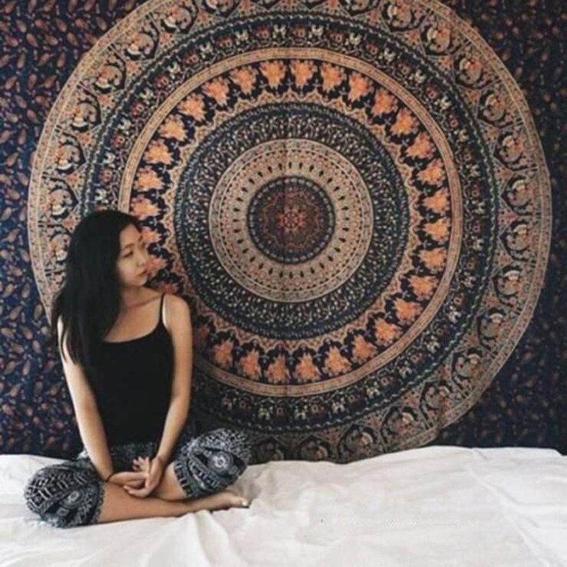 European Tapestry Mandala Carpet  Tapestries Decor Wall Decor Yoga Mat W3-new-LS-MTL01