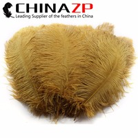 CHINAZP Feathers 20inch to 22inch (50-55cm) Wholesale 50pcs/lot Good Quality Brown Ostrich Feathers For pPerfume Carnival