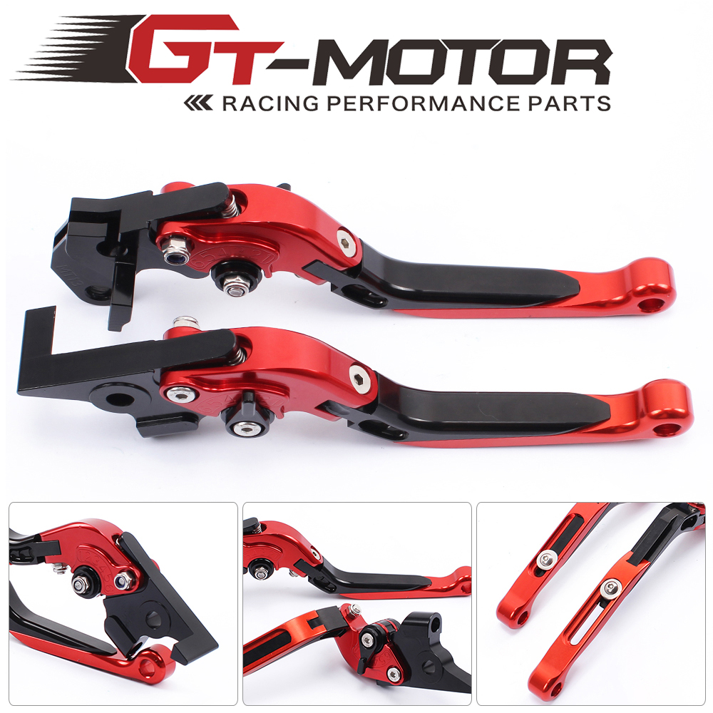 GT Motor - F-16/Y-695 Adjustable CNC 3D Extendable Folding Brake Clutch Levers For YAMAHA   TDM 900	2012-2014 gt motor f 16 dc 80 adjustable cnc 3d extendable folding brake clutch levers for moto guzzi breva 1100 norge 1200 gt8v