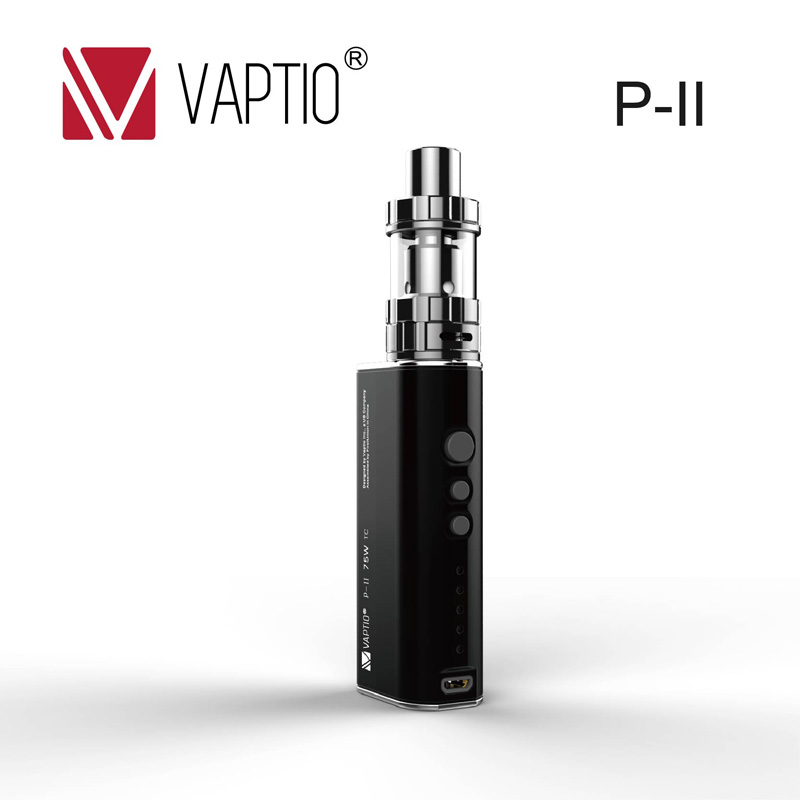 Vaptio P-II Kit cigarette electronique cool vape box 75w mod electric vape 1850mah P-II 2.0ml top fill tank ecig mods cheap kettler cool top ii