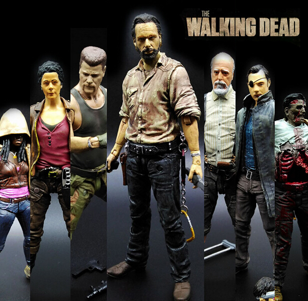 NEW hot ! 15cm The walking dead 5 zombies Rick Daryl action figure toys Christmas doll toy Christmas gift new hot 17cm avengers thor action figure toys collection christmas gift doll with box j h a c g