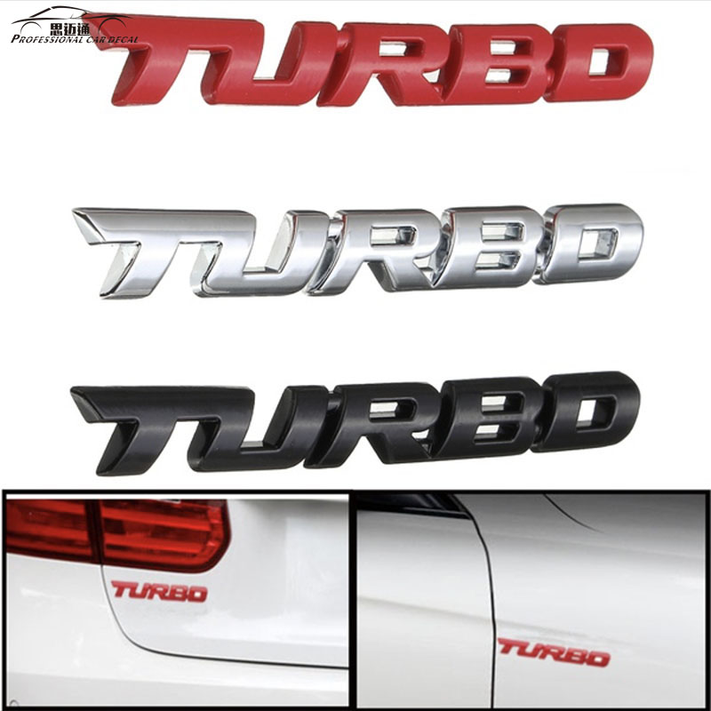 Car Styling 3D Metal TURBO Emblem Sticker Body Rear Tailgate Badge For Ford Focus 2 3 ST RS Fiesta Mondeo Tuga Ecosport Fusion