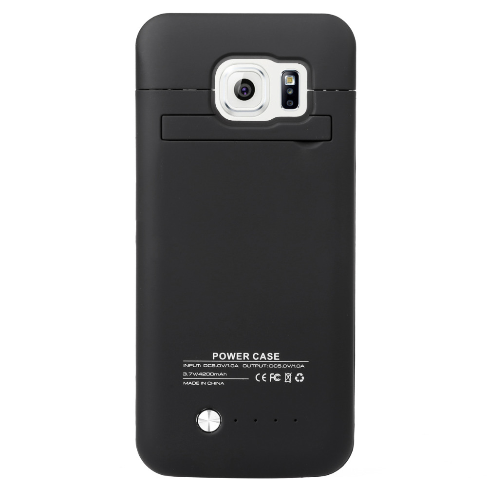 imágenes para De alta Calidad para Samsung S6 Edge Batería 4200 mAh Carga de La Batería de Reserva Externa Cubierta de la Caja de Pie Al Por Mayor 100%
