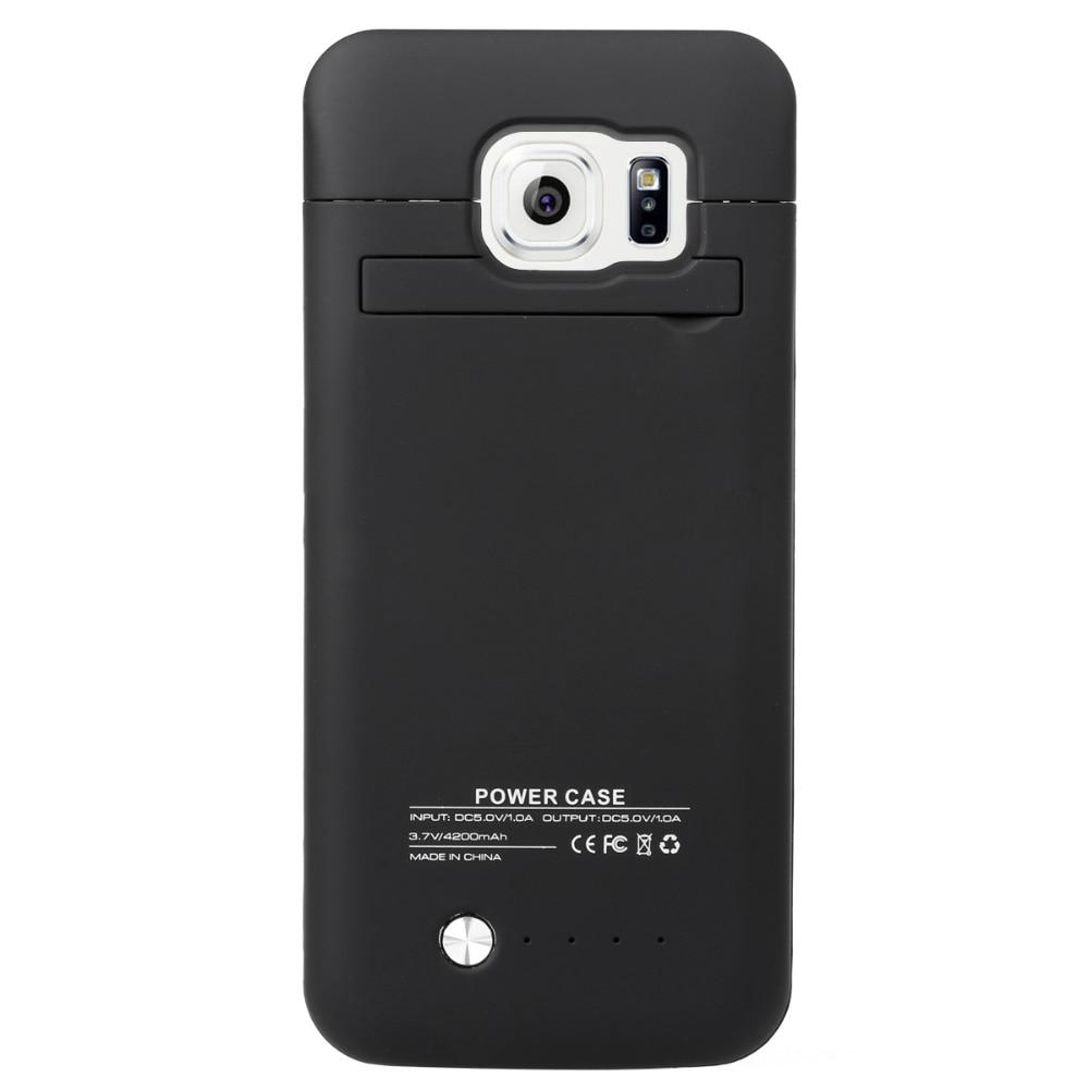 Цена за Высокое качество для Samsung S6 край аккумуляторной батареи 4200 мАч Внешняя батарея резервного копирования Зарядка чехол оптом 100%