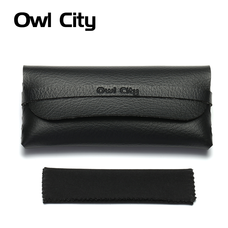 sunglasses case box men women black brand leather glasses case sunglasses cover