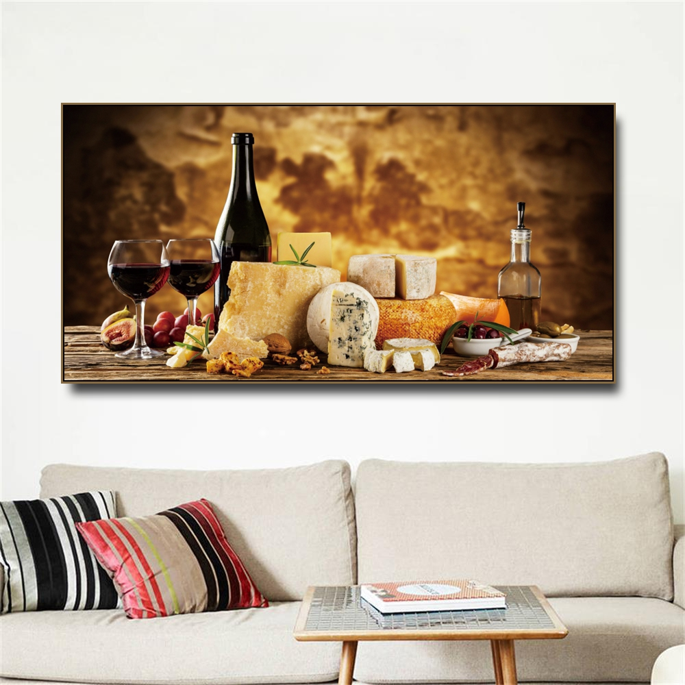 Best Offer 22d0 Vineyard Bread Food Kitchen Canvas Painting