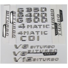Chrome 3D ABS Plastic Car Trunk Rear Letters Words Badge Emblem Decal Sticker for Mercedes Benz G Class G500 chrome 3d abs plastic car trunk rear letters words badge emblem decal sticker for mercedes benz g class g550