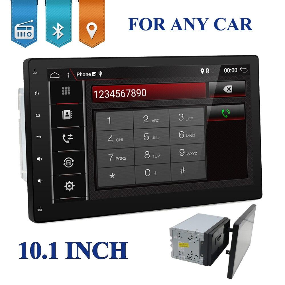10 дюймов 4 ядра 2 DIN Универсальный Android 7.1.1 аудиомагнитолы Автомобильные gps Радио Видео плеер стерео Авто BT RDS головное устройство 2din с wi fi usb sd