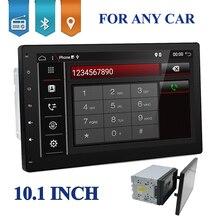 10 pollici 4 Core 2 DIN universale Android 7.1.1 Car Audio GPS Radio Video Player Stereo Auto BT RDS Testa unità 2din con wifi usb sd