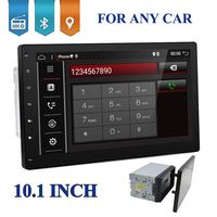 10 inch 4 Core 2 DIN universal Android 7.1.1 Car Audio GPS Radio Video Player Stereo Auto BT RDS Head unit 2din with wifi usb sd