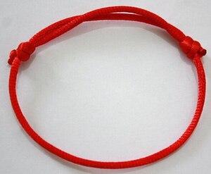 Image 2 - Expédition rapide! 100 pièces/lot kabbale fait à la main rouge chaîne Bracelet mauvais œil bijoux Kabala bonne chance Bracelet Protection
