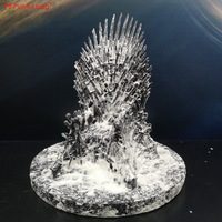 17 37CM Game of Thrones Iron Throne with snow Action figure(With a random small gift) Final Season collections Fans loves HC50