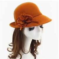 Women Hats Fashion Classic Retro Jazz Warm Ladies Bucket Cotton Sweet Caps Wide Brim Top Sun Hat 2019 Trendy