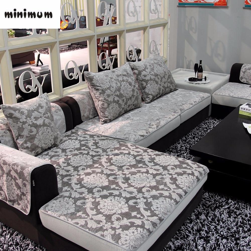 european style leather sofa cover sofa towel sofa mat chenille jacquard non slip luxury sofacover four seasons free shipping