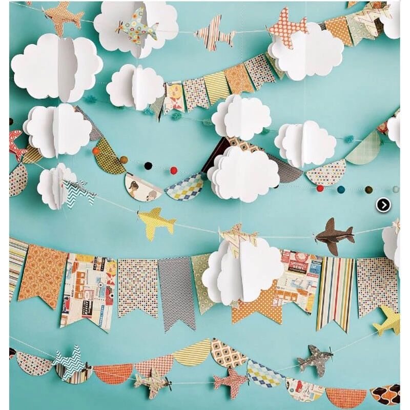 Boy Birthday Party Photography Booth Backdrop Printed Paper Crafts Clouds Baby Kids Children Girls Studio Photo Shoot Background blue sky white clouds baby pilot photography backdrops vinyl printed toy aircraft kids boy photo shoot backgrounds for studio