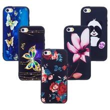 цены на for iPhone 5s Case Cute 3D Relief Back Cover for iPhone se Phone Cases Panda Gel for iPhone 5 s Flower Owl Coque Etui Capa Funda  в интернет-магазинах