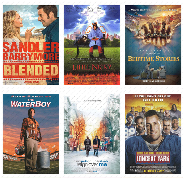 Adam Sandler Movie Poster White Kraft Paper  50 First Dates/Reign Over Me/wall sticker  Decorative paintings