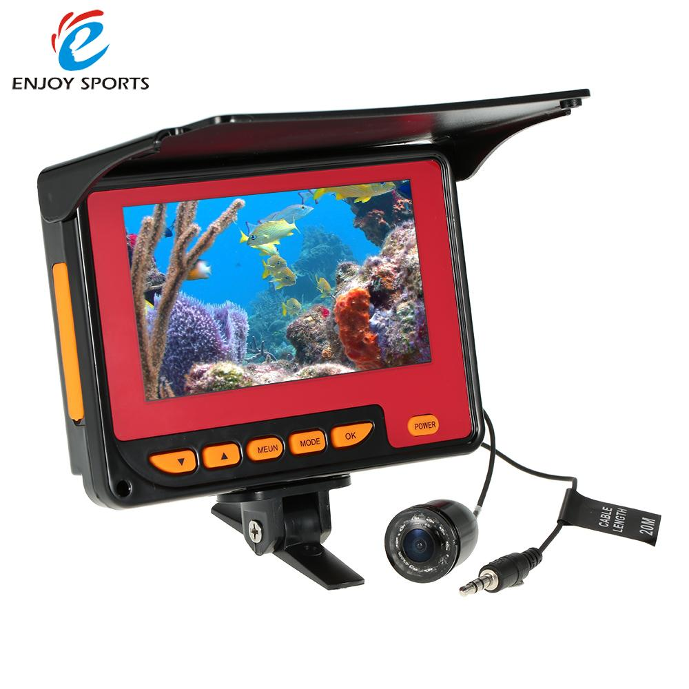 4.3\'\' Color Digital LCD 1000TVL Fish Finder HD IR LED Fishing Camera ...