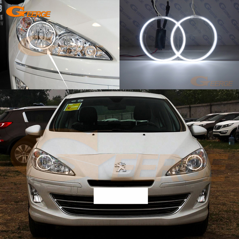 For Peugeot 408 2010 2011 2012 2013 Halogen headlight Excellent Ultra bright illumination CCFL Angel Eyes kit Halo Ring for alfa romeo 147 2000 2001 2002 2003 2004 halogen headlight excellent ultra bright illumination ccfl angel eyes kit halo ring