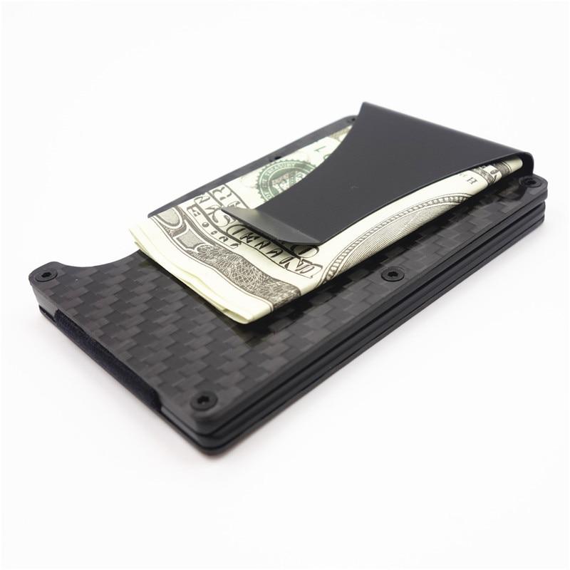 Carbon Fiber Metal Mini Money Clamp RFID Credit Business Card Case ...