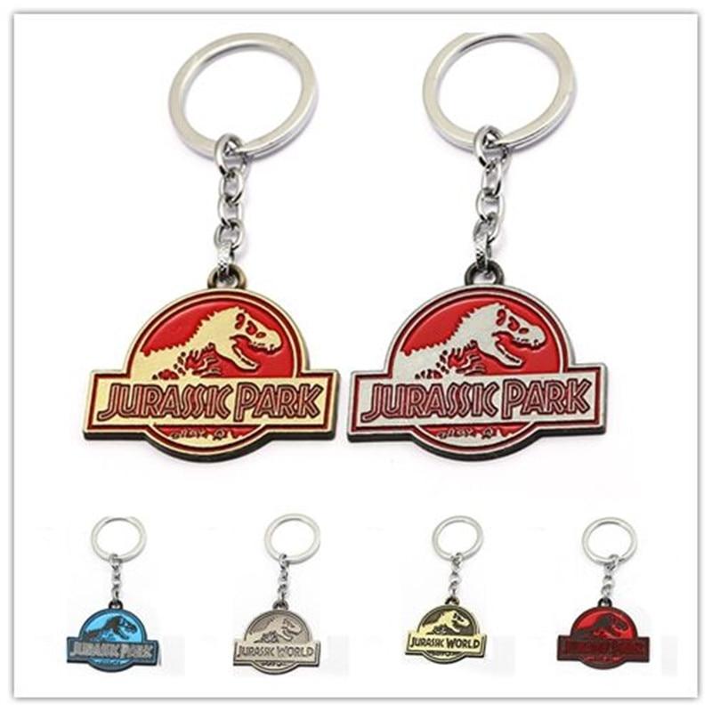 Silver Jurassic Park Key ring