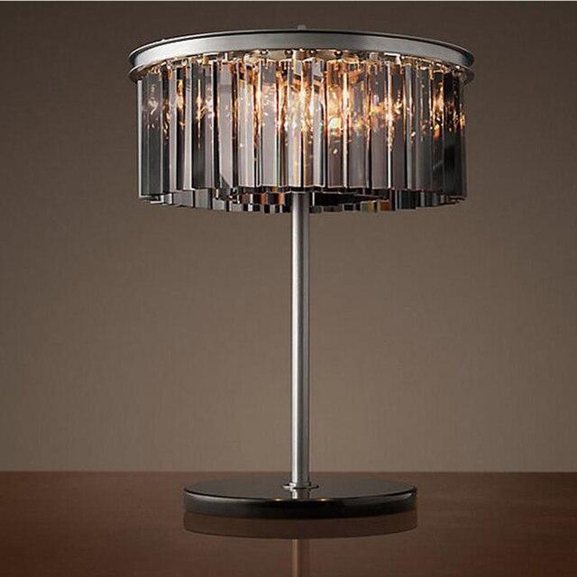 Led E14 American Vintage Iron Crystal LED Lamp. LED Light. Table Lamp.Desk
