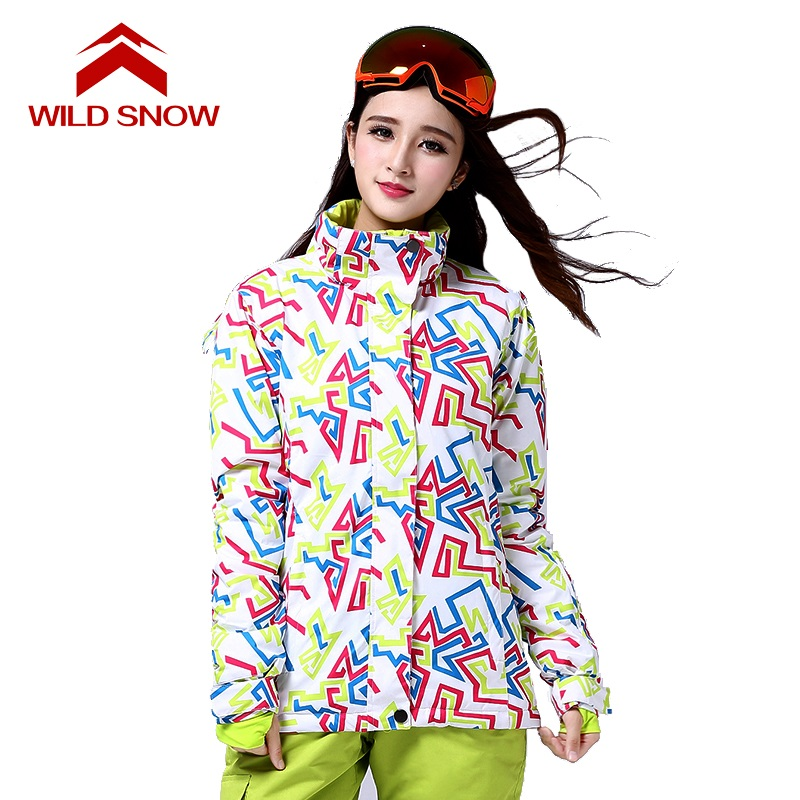 New WILD SNOW Womens Jacket Snowboard Ski Women Waterproof ski jacket women