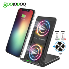 10W 5V/2A Fast QI Wireless Charger Stand Station for Samsung Galaxy S9 /S8 Plus /S7 /S7 edge /S6 plus /Note 5 iPhone X 8 plus