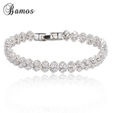 Crystal Fashion Jewelry Charm Women Bracelets White Gold Fil