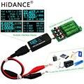Batería/USB probador DC voltímetro amperímetro 18650 capacidad medidor carga electrónica resistencia a la descarga pinzas cocodrilo alambre