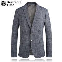 라이트 그레이 남성 비즈니스 재킷 재킷 Veste 의상 옴므 패션 슬림핏 캐주얼 재킷 Masculino 남성 댄스 블레이져 DT350
