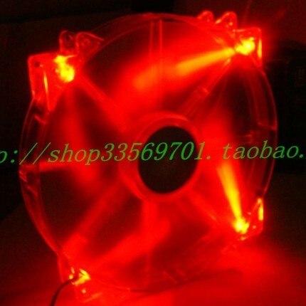 Cooler master 20cm computer case silent fan red led megaflow 12VDC0.3A