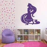 Princess Rapunzel Wall Stickers For Kids Rooms Cartoon Vinyl Removable Baby Girls Home Decor Mural Nursery