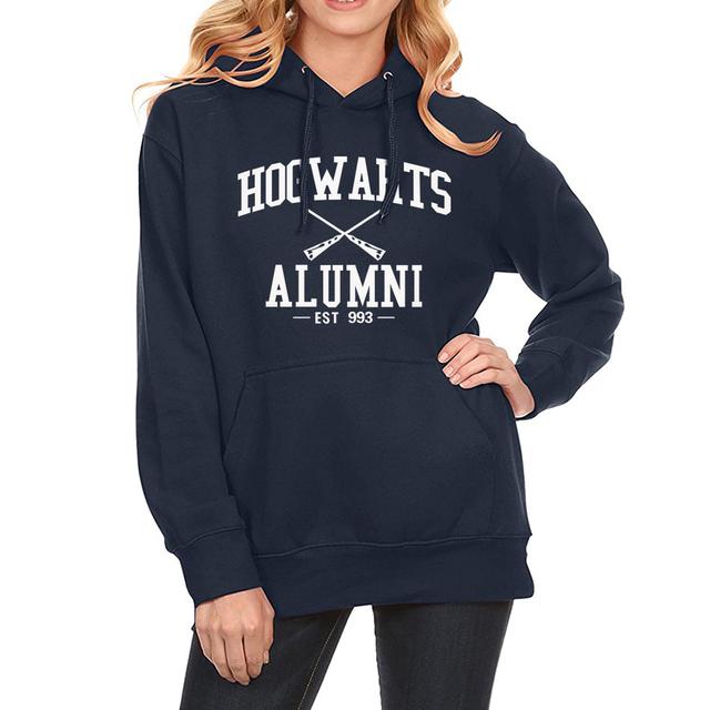 HOGWARTS ALUMNI Fashion Print Hoody For Lady 2018 Autumn Winter Sweatshirt Fleece Hoodies Brand Clothing Kawaii Streetwear Kpop