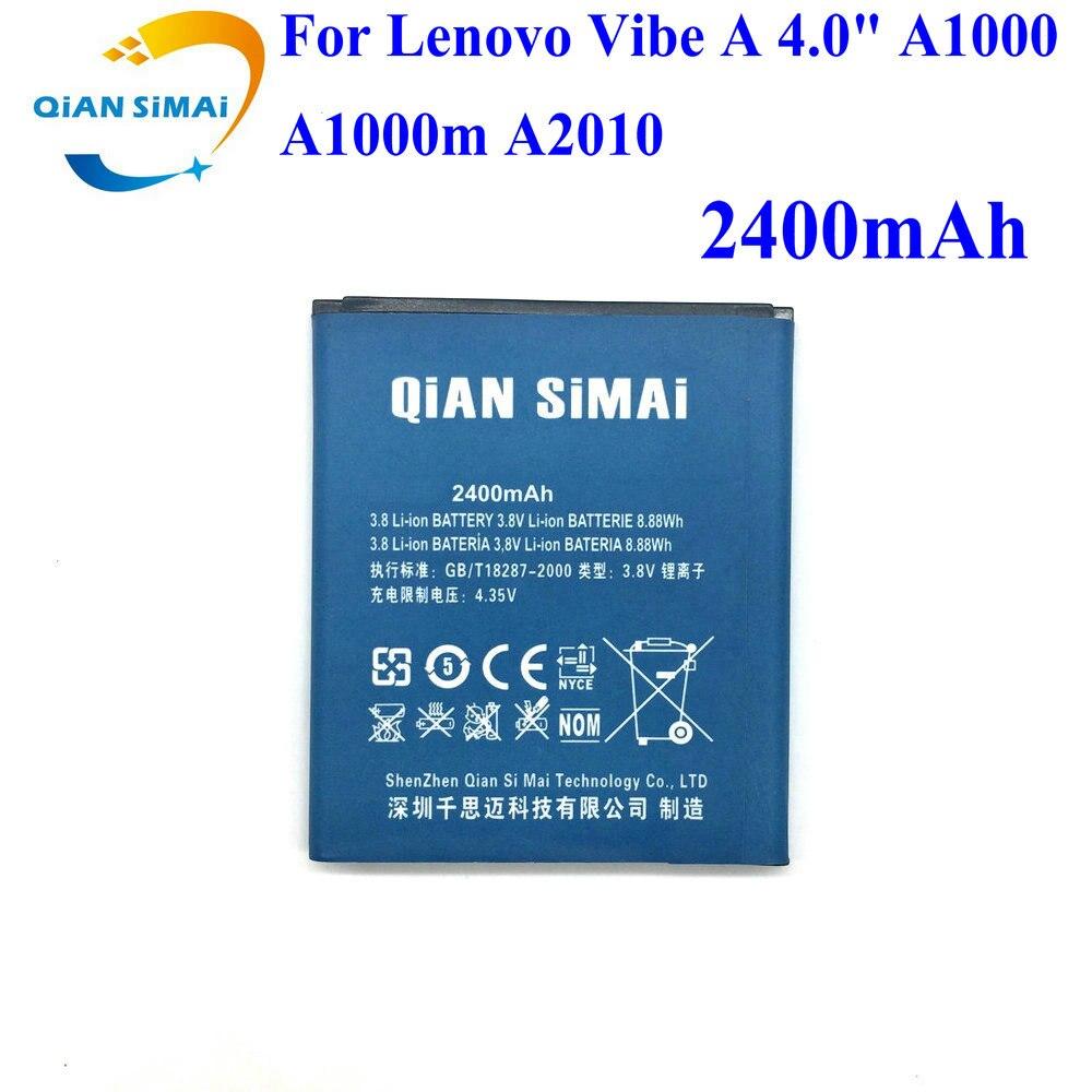 QiAN SiMAi 1 PCS Nouveau 100% de Haute Qualité Batterie de Remplacement Pour Lenovo Vibe Un 4 A1000 A1000m A2010 4 pouce téléphone + Code De Suivi