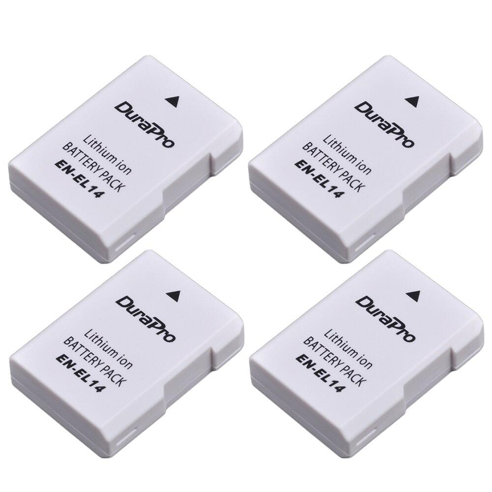 4 pc EN-EL14 ENEL14 EN EL14 1200 mAh Батарея для Nikon D300 D5300 D5200 D5100 D3300 D3200 D3100 для COOLPIX P7100 P7200 P7700