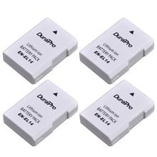 4 pc EN-EL14 ENEL14 EN EL14 1200 mAh Batterie pour Nikon D300 D5300 D5200 D5100 D3300 D3200 D3100 pour COOLPIX P7100 P7200 P7700