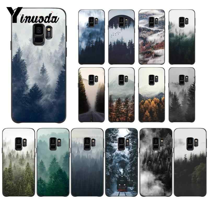Yinuoda Take Away Beautiful Nature art Cloudy mountains Custom Phone Case for Samsung Galaxy S8 S7 edge S6 edge plus S10 S9 Plus