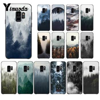 Yinuoda Take Away Beautiful Nature art Cloudy mountains Custom Phone Case for Samsung Galaxy S8 S7 edge S6 edge plus S10 S9 Plus image