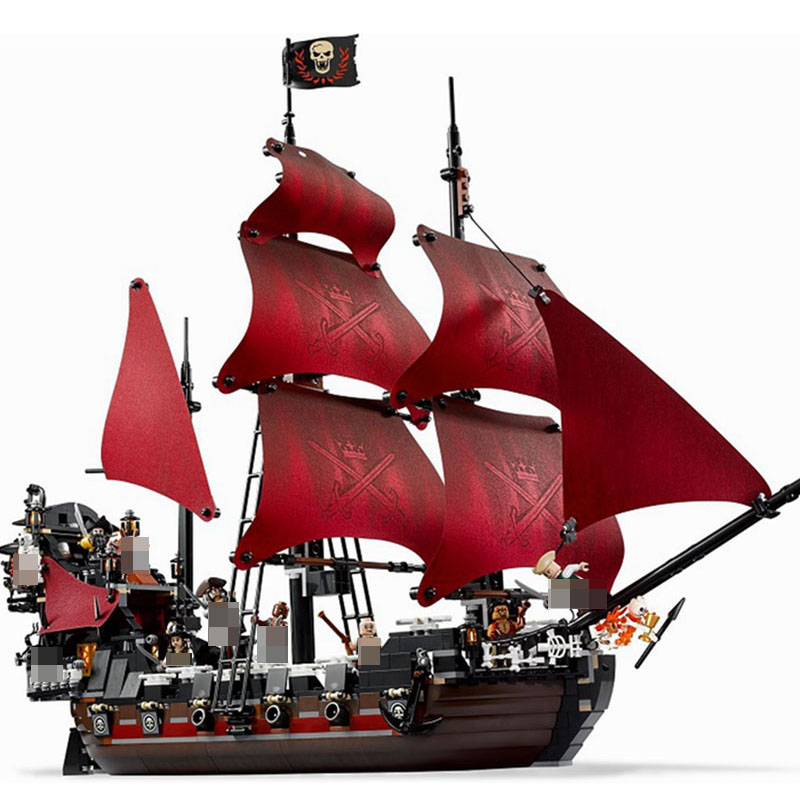 Queen Anne's Revenge 1151Pcs Building Blocks model Toy simulation Pirates of the Caribbean ferry toys for children blocks Bir model building blocks toys 16009 1151pcs caribbean queen anne s reveage compatible with lego pirates series 4195 diy toys hobbie
