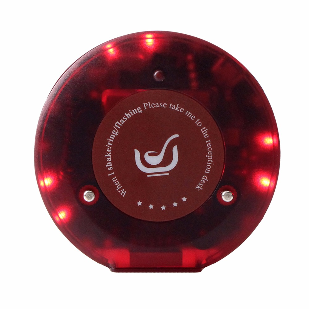 999 Channel Call Coaster Pager Restaurant Pager for Wireless Queuing Paging Calling System Restaurant Equipments F3357A