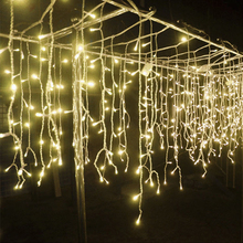 110V 220V 4x0.57m Christmas light LED Curtain Lights Garden bedroom Wedding Indoor Outdoor Decorations for home