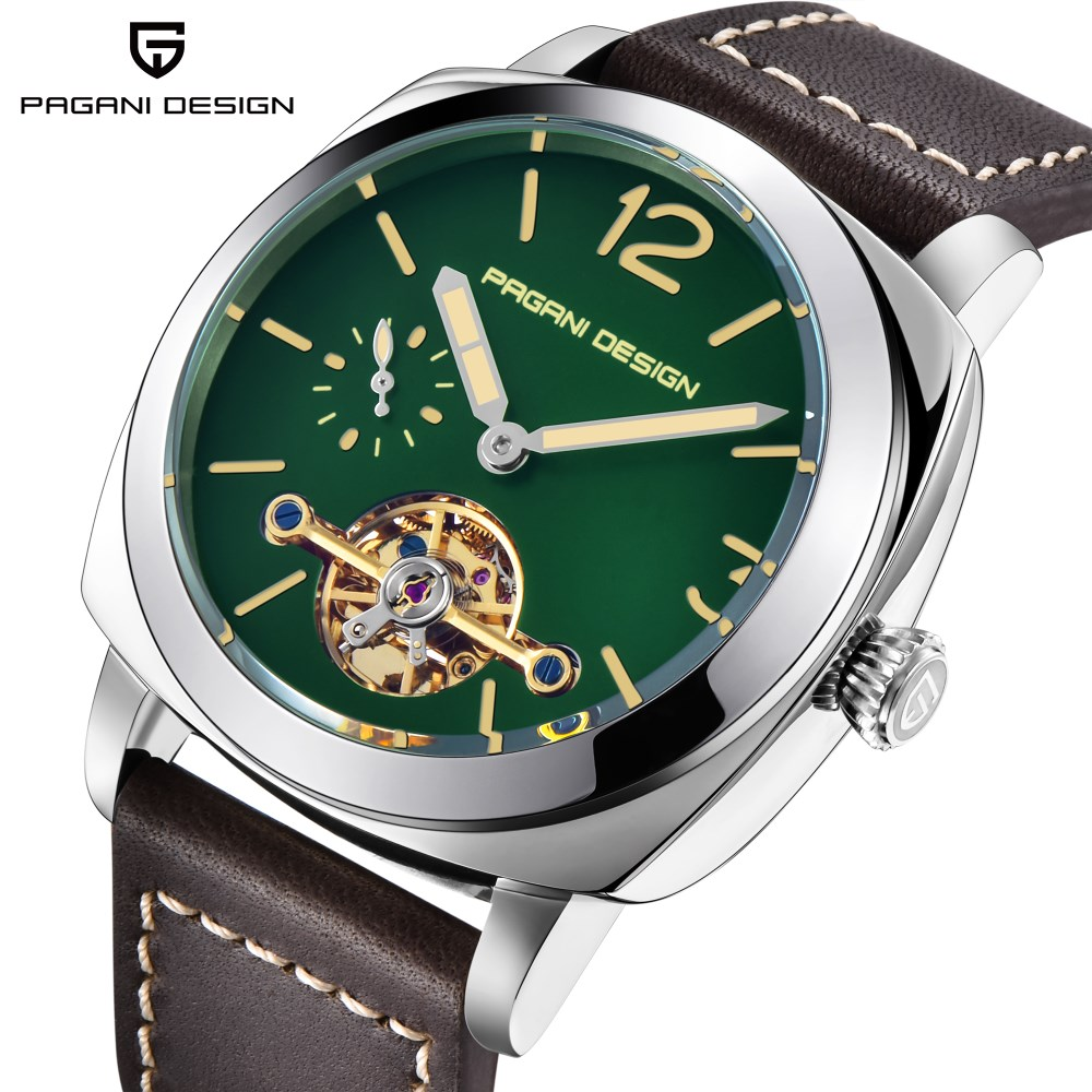 PAGANI DESIGN New Top Brand Mechanical Watch Men Luxury Brand Leather Band Automatic Business Watch Male Clock Relogio Masculino pagani design mechanical watch men automatic business silicone rubber strap wist watch male clock relogio masculino