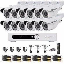 Eyedea 16 CH DVR HDMI 1080 P 2.0MP 5500TVL Bala Blanco Al Aire Libre LED de Visión Nocturna de Seguridad CCTV Cámara de Vigilancia de Vídeo sistema