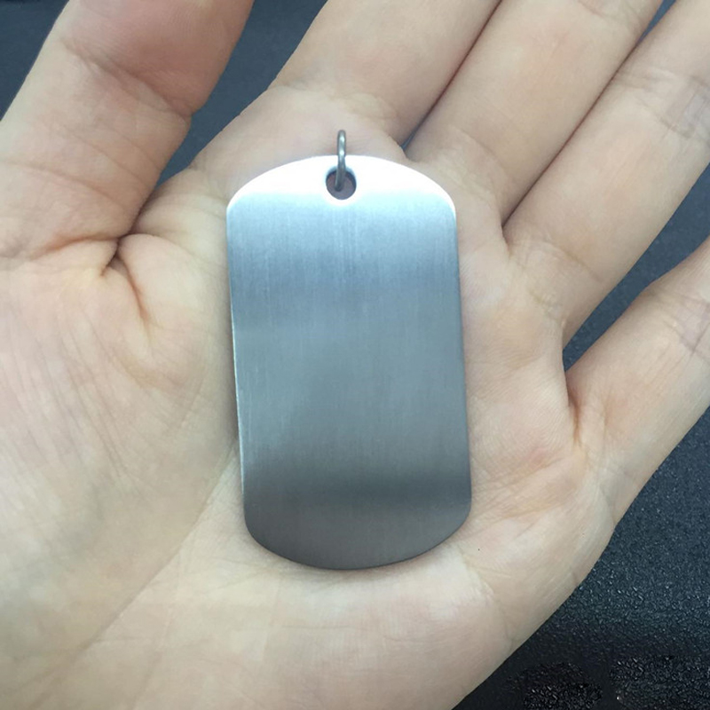Hypoallergenic Titanium medical alert pet Dog tag, engrave Military badge image