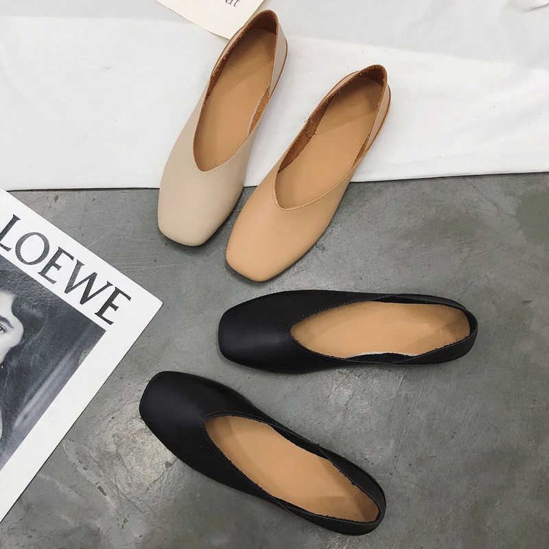 2019 Autumn and Winter New Design Super Soft and Comfort Flat Shallow Mouth Pointed Toe Shoes Women Single Shoes Slip On Flats