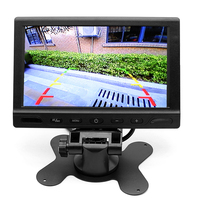 HD 7 LCD TFT Screen Car Parking Monitor Video Camera Monitors With 2 Video RCA Input