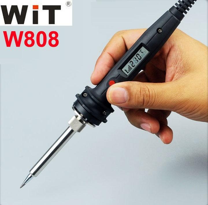 Japan WiT W808 Electric Soldering Iron 60W 80W 100W Rapid Heating 110V 220V Internal Heat Digital