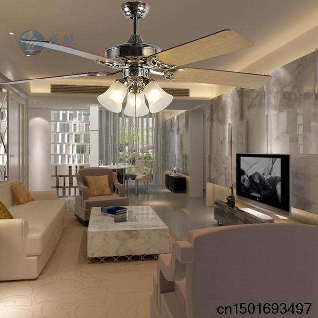 Five Leaves Three Lights Decorative Ceiling Fan Continental Minimalist Modern Living Room Dining Bedroom